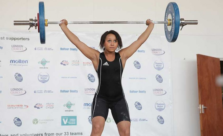Zoe Smith at the London Youth Games